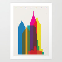 Shapes of Atlanta. Accurate to scale Art Print by Yoni Alter