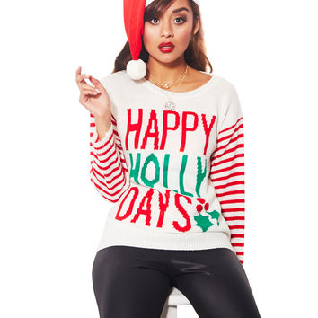 Happy Holly Days Sweater Set   Wet Seal