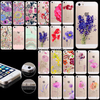 New Arrival Hot Soft TPU Phone Skin For Apple iPhone 5 5S Case Transparent Clear Back Case Cover