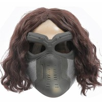 Captain The Winter Soldier Bucky Barnes Mask Cosplay mask Costume Props for Halloween show Fancy Dress Men