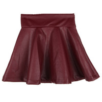 Leather Mini Flare Skirt by Stylenanda