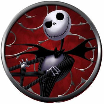 Nightmare Before Christmas Jack Skellington On Red Cool 18MM - 20MM Charm for Snap Jewelry