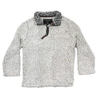 CHILD'S Frosty Tip 1/4 Zip Pullover in Putty by True Grit