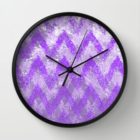 purple play Wall Clock by Marianna Tankelevich
