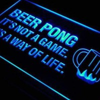 Beer Pong It's Not a Game Neon Sign (LED)