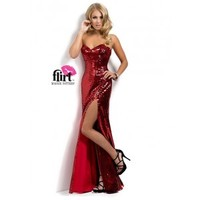 Flirt by Maggie Sottero P7810 Sparkly Evening Gown