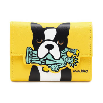 NYC Boston Terrier Coin Wallet