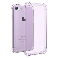 Purple Crystal Clear Series Soft TPU Case Protective UNBreak Back Cover for iPhone 7 7Plus & iPhone se 5s 6 6 Plus +Gift Box