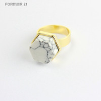 Shiny New Arrival Jewelry Stylish Gift Fashion Accessory Ladies Geometric Turquoise Ring [4956884996]