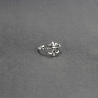 925 sterling silver Thai silver cross The punk style ring,a simple perfect gift !