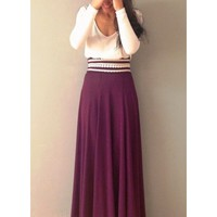 Cameron- Two tone maxi dress with lace details on the waist.