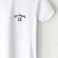 Los Angeles CA Relaxed Tee - White