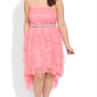 Dress with Stone Waist and Tendril Skirt