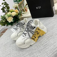 N21   Women Casual Shoes Boots fashionable casual leather Women Heels Sandal Shoes