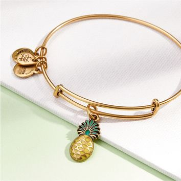Pineapple Color Infusion Charm Bangle