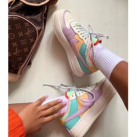 """Nike Women Fashion WMNS Air Force 1 Shadow""""Tropical Twist""""Low Band Slippers"""