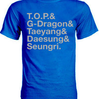 Big Bang T.O.P. and G-Dragon and Taeyang and Saesung and Seungri Group Member Shirt