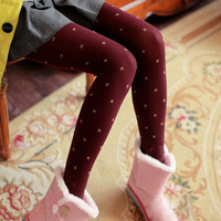 Bow Designed Jacquard Leggings