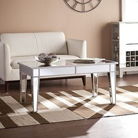 Mirage Mirrored Mirror Glass Cocktail Coffee Table SEI Furniture Glam CK9169