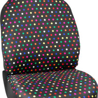 Fun Girly Polka Dot Front Car Seat Cover Accessory