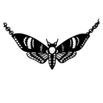 CURIOLOGY DEATHS HEAD MOTH NECKLACE
