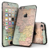 The Zoomed In Africa Map  - 4-Piece Skin Kit for the iPhone 7 or 7 Plus