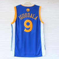 Warriors Andre IGUODALA #9 Basketball Jerseys Shirts Blue 2014-2015 Newest Golden State Sport Uniform 44-56