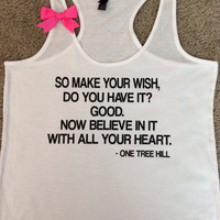 Make a Wish - One Tree Hill Tank - Ruffles with Love - RWL - Bow Tank