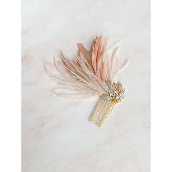 Feather fascinator - style 7019 - ready to ship