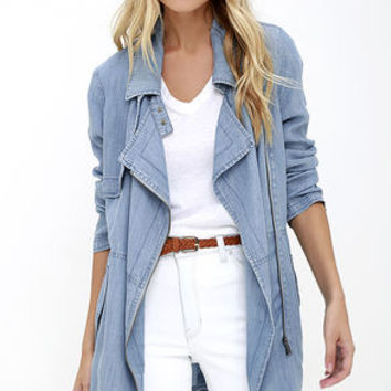 Gentle Fawn Intrepid Blue Chambray Jacket