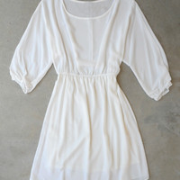 Chic Bohemian Dress in White [5830] - $32.00 : Vintage Inspired Clothing & Affordable Dresses, deloom   Modern. Vintage. Crafted.