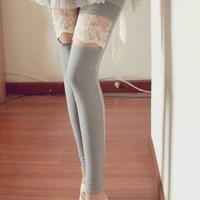 Korean Cut-out Lace Leggings SD00012