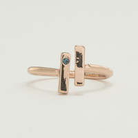 Rose Gold Uneven Bars Ring - Montana
