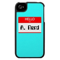 HELLO I'm A. Nerd - iPhone 4 Cases from Zazzle.com