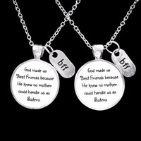 Best Friend Gift God Made Us Best Friends Bff Christmas Gift Necklace Set