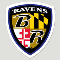 Baltimore Ravens Die Cut Color Decal 8in X 8in