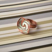 Ring handmade cooper present idea accessories jewelry bijouterie original gift