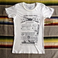 Bandit Brand General Store — Peace Pipes Women's Vintage Tee White/Black