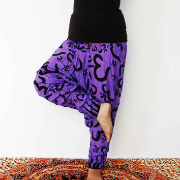 Purple Om Casual Harem alladin pant,boho gypsy pant,women clothing,dresses ,afghani pant,beach pant,fisherman jumpsuit