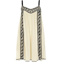 Cream embroidered swing cami dress - day dresses - dresses - women