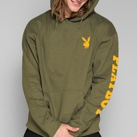 Army Green Simple Pullover Hoodie