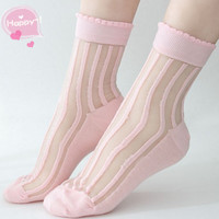 Women's socks, lace socks, leisure socks of transparent cute socks.Nylon Ankle Socks Hosiery