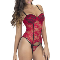 Red Lace Push-Up 2Pc. Intimates Set
