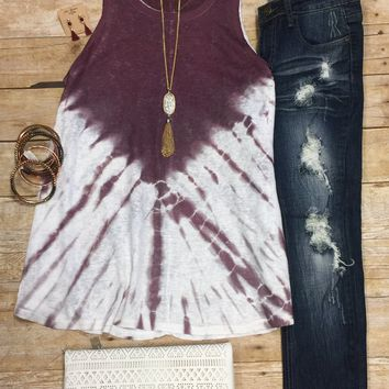 Just Dipped Top: Burgundy