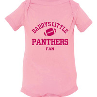 Daddys Little Panthers Fan Toddler And Youth T-Shirt Carolina Fans Printed Tee for Kids Creepers & T-Shirts. Makes a Great Gift!!