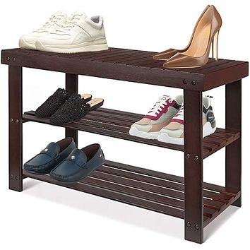 Shoe Rack Organizer and Bathroom Bench/Natural