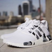 Adidas Nmd Women Men Casual Running Sport Shoes Sneakers Camouflage White