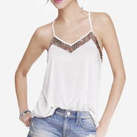SEQUIN EMBELLISHED RACERBACK CAMI from EXPRESS