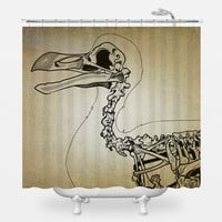 Dront Skeleton Shower Curtain