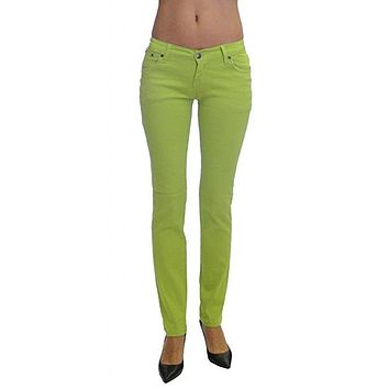 Apple Colored Denim Skinny Jeans